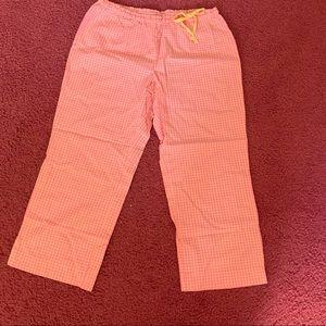 Old Navy Pink & Orange Gingham Pajama Pants